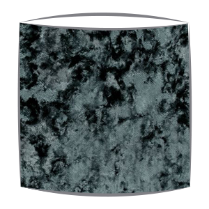 Crsuhed Velvet Lampshade in Teal