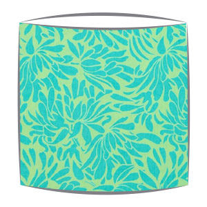 Amy Butler Daisy Bouquet Fabric Lamphshade in Turquoise