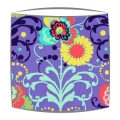 Amy Butler Paradise Garden Fabric Lampshade in Periwinkle