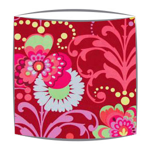 Amy Butler Paradise Garden Fabric Lampshade in Wine