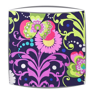 Amy Butler lampshade in Paradise Garden in Midnight