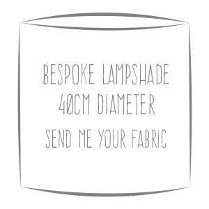 Bespoke custom made lampshade in your fabric 40cm diameter