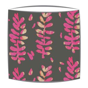 Bon Maison Acacia Grey & Pink fabric drum lampshade