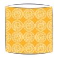 Bon Maison Mayenne Fabric lampshade in Orange & White large