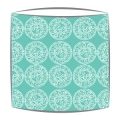 Bon Maison Mayenne Fabric lampshade in Turquoise & White