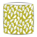 Bon Maison Shells fabric lampshade in dotty green