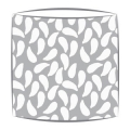 Bon Maison Shells fabric lampshade in grey