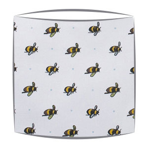 Bumble Bees Fabric Drum Lampshade