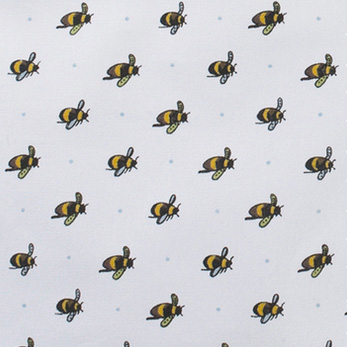 Bumble bees fabric lampshade