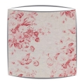 Cabbages and Roses Contstance fabric lampshade in raspberry