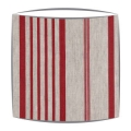 Cabbages and Roses Jolly Stripe fabric lampshade in red