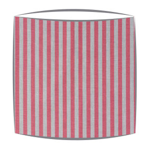 Cabbages and Roses Natural Little Stripe fabric lampshade in raspberry