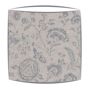 Cabbages and Roses Provence Rose fabric lampshade in blue