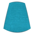 Candle Clip Lampshade for candelabra or wall light in electric blue