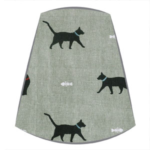 Candle Clip Lampshade in Sophie Allport Cats fabric