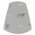 Candle Clip Lampshade in Sophie Allport Terrier fabric