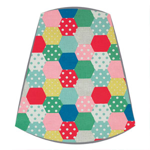 Cath Kidston Fabric Candle Clip On Lampshade in Patchwork Spot