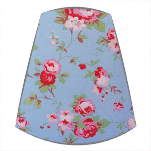 Cath Kidston Fabric Candle Clip On Lampshade in Rosali Blue