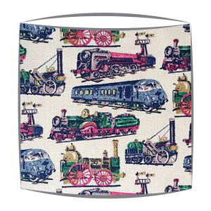 Cath Kidston trains fabric lampshade