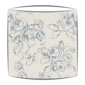 Clarke and Clarke Delphine lampshade in wedgewood