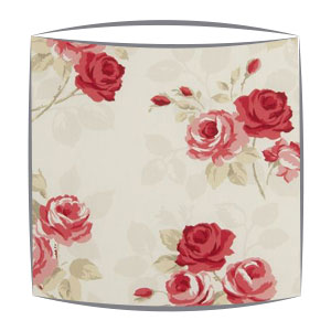 Clarke and Clarke Nancy lampshade in rouge