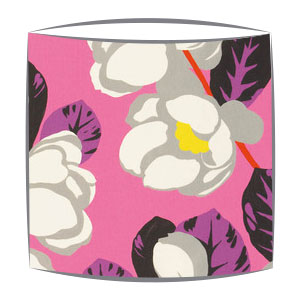Designers Guild Flamingo Park fabric lampshade in Fuchsia