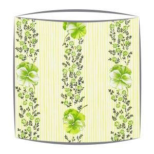 Designers Guild Pansy Stripe fabric lampshade in Apple