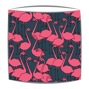 Flamingos Fabric Lampshade in Grey