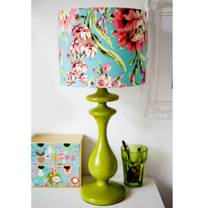 Handmade lampshade in Amy Butler Bliss Bouquet fabric