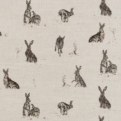 Hare Capers fabric lampshade