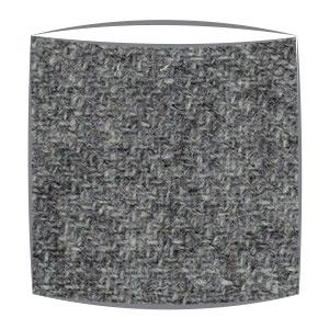 Harris Tweed fabric lampshade in grey