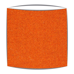 Harris Tweed fabric lampshade in orange