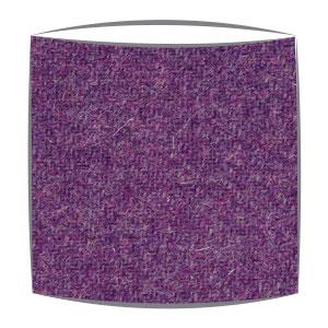 Harris Tweed fabric lampshade in purple