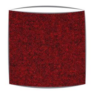 Harris Tweed fabric lampshade in ruby
