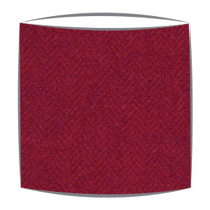 Harris Tweed lampshade in orange and purple herringbone