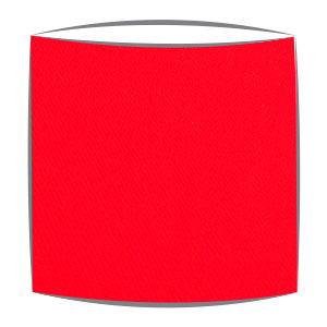 Lampshade in red fabric
