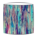 Liberty Art Tana Lawn fabric lampshade in turquouise and mauve small