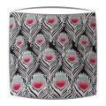 Liberty Tana Lawn Ceaser Fabric Lampshade in Black fabric