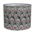 Liberty Peacock Feather Print Lampshade in Black