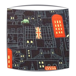 London at Night fabric lampshade