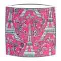 Michael Miller Eiffel Tower fabric  lampshade in Cerise
