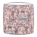 Michael Miller Eiffel Tower fabric  lampshade in pink