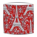 Michael Miller Eiffel Tower fabric  lampshade in red