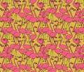 Mustard-Flamingo-Fabric