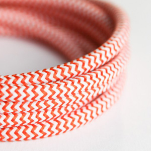 orange and white lighting cable