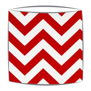 Red Chevron Zig Zag Fabric Drum Lampshade