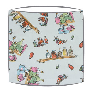Roald Dahl Diddly Bottles fabric Lampshade