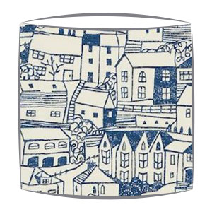 Sanderson St Ives fabric lampshade in Indigo