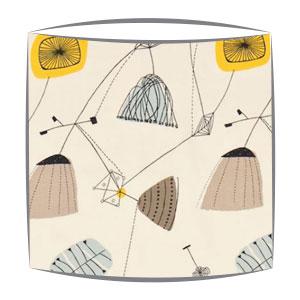 Sandersons Perpetua fabric lampshade in sunflower & pebble