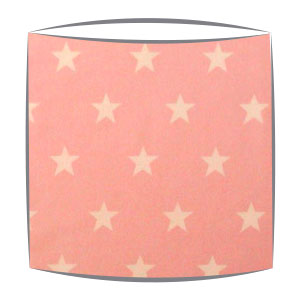 Star Print Drum Lampshade For Children in Baby Pink